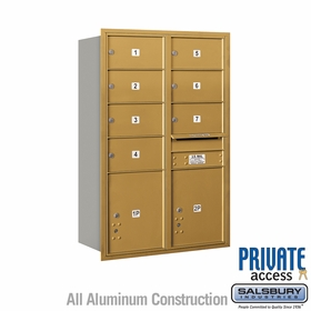 Salsbury 3713D-07GRP 4C Mailboxes 7 Tenant Doors Rear Loading