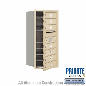 Salsbury 3709S-07SFP 4C Mailboxes 7 Tenant Doors Front Loading