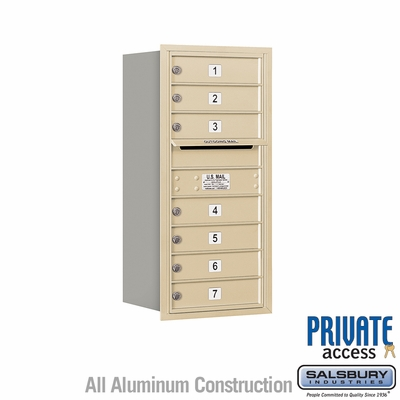 Salsbury 3709S-07SRP 4C Mailboxes 7 Tenant Doors Rear Loading