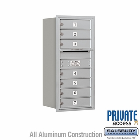Salsbury 3709S-07ARP 4C Mailboxes 7 Tenant Doors Rear Loading