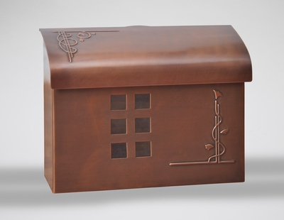 E7 Wall Mount Mailbox - Antique Copper Plated