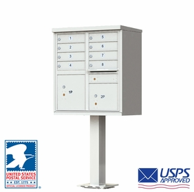 USPS Cluster Mailboxes Gray