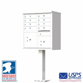 CBU - 8 Tenant Boxes Cluster Mailbox In White