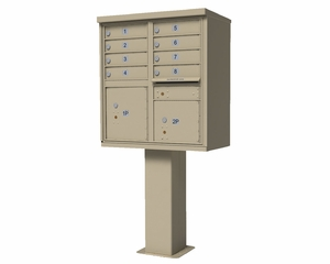 High Security CBU Mailboxes - 8 Doors 2 Parcel Units