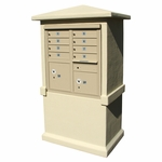 8 Door Stucco CBU Mailbox Center - Column and Mailbox Included (Choose Colors)