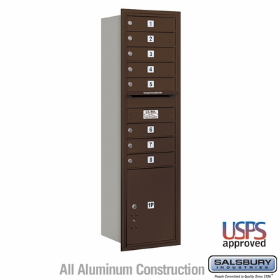 Salsbury 3715S-08ZRU 4C Mailboxes 8 Tenant Doors Rear Loading