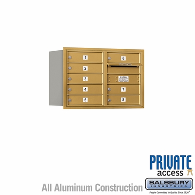 Salsbury 3705D-08GRP 4C Mailboxes 8 Tenant Doors Rear Loading