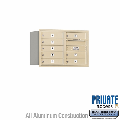 Salsbury 3705D-08SRP 4C Mailboxes 8 Tenant Doors Rear Loading