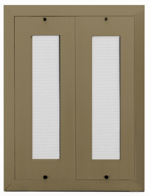 80 Name Capacity Directory - Mount Beside Horizontal Mailboxes Gold Anodized