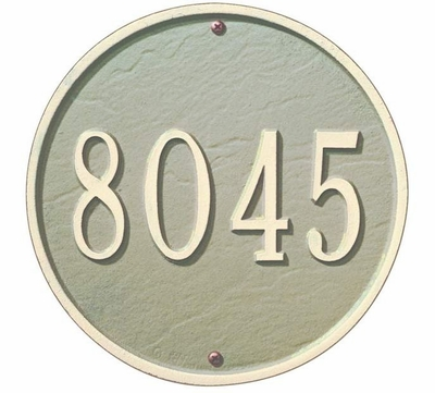 """Whitehall 9"""" ROUND Wall Plaque - (1 Line)"""