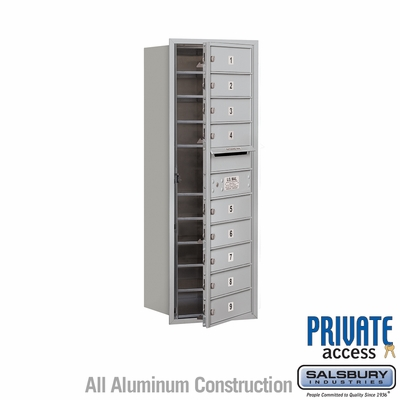 Salsbury 3711S-09AFP 4C Mailboxes 9 Tenant Doors Front Loading
