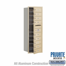 Salsbury 3711S-09SFP 4C Mailboxes 9 Tenant Doors Front Loading