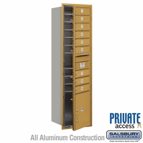Salsbury 3716S-09GFP 4C Mailboxes 9 Tenant Doors Front Loading