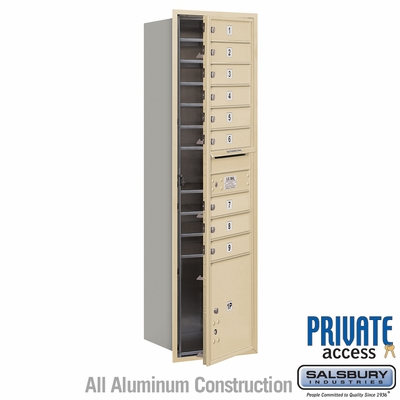 Salsbury 3716S-09SFP 4C Mailboxes 9 Tenant Doors Front Loading