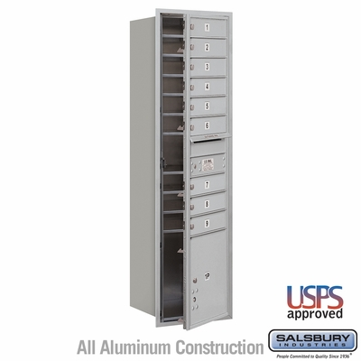 Salsbury 3716S-09AFU 4C Mailboxes 9 Tenant Doors Front Loading
