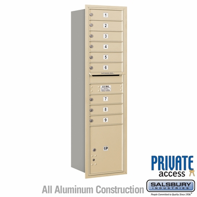 Salsbury 3716S-09SRP 4C Mailboxes 9 Tenant Doors Rear Loading