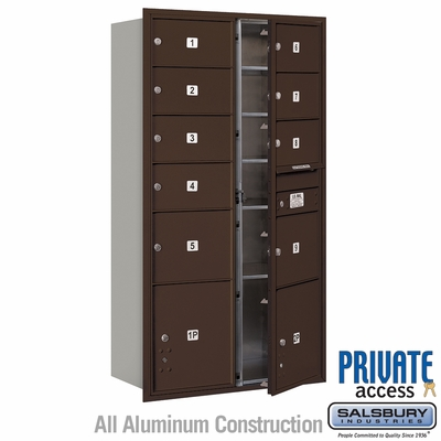 Salsbury 3716D-09ZFP 4C Mailboxes 9 Tenant Doors Front Loading