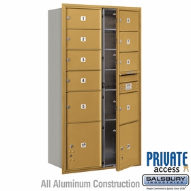 Salsbury 3716D-09GFP 4C Mailboxes 9 Tenant Doors Front Loading