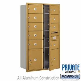 Salsbury 3715D-09GFP 4C Mailboxes 9 Tenant Doors Front Loading
