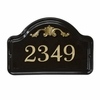 Whitehall Acanthus Ceramic Arch Standard Wall Plaque - One Line - Black