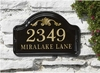Whitehall Acanthus Ceramic Arch Standard Wall Plaque - Two Line