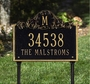 Acanthus Monogram Plaque - Standard Lawn - Two Line
