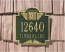 Acanthus Monogram Plaque - Standard Wall - Two Line