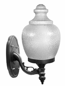 Acorn Incandescent Wall Mount Light- 16inch Polycarbonate Globe