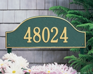 Admiral Estate One Line Lawn Address Sign