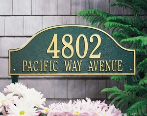 Admiral Estate Two Line Lawn Address Sign