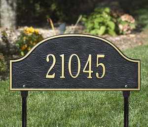 Admiral Standard One Line Lawn Address Sign