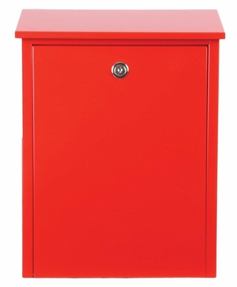 Allux 200 Locking Wall Mount Mailbox in Red