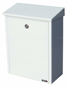 Allux 200 Locking Wall Mount Mailbox in White