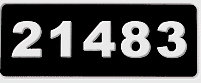 Aluminum Address Plaque - Numbers only