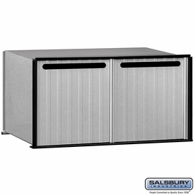 Salsbury 2282 Aluminum Drop Box 2 Compartments