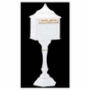 Amco Colonial Pedestal Mailbox in White