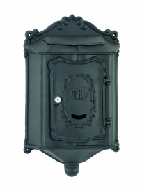 Amco Colonial Wallmount Mailbox in Black