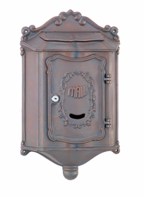 Amco Colonial Wallmount Mailbox in Bricktone