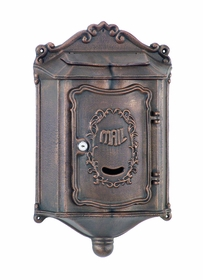 Amco Colonial Wallmount Mailbox in Bronze