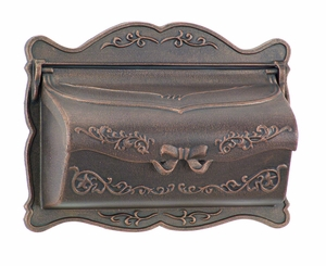 Amco Provincial Wallmount Mailbox in Bronze