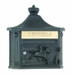 Amco Victorian Wallmount Mailbox in Black