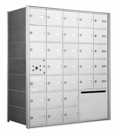 4B+ Front-Loading Horizontal Mailboxes - 30 Tenant Doors and 1 Outgoing Mail Collection