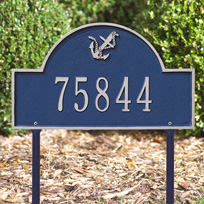 Anchor Arch - Standard Lawn Address Sign - One Line