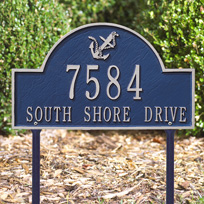 Anchor Arch - Standard Lawn Address Sign - Two Line
