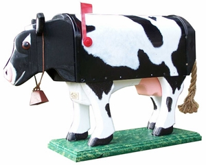 ANIMALS - Cow Standing Woodendippity Mailbox