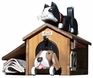 ANIMALS - Pet House Cat on Top of Doghouse Woodendippity Mailbox Only