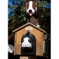 ANIMALS - Pet House Dog on top of Doghouse Woodendippity Mailbox withNewspaper Box