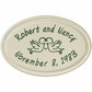 Whitehall Anniversary Heart Birds Ceramic Oval - Petite Wall Plaque - Two Line - Green