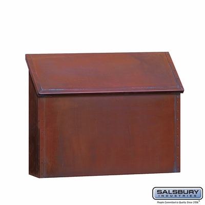 Salsbury 4410 Antique Brass Mailbox Standard Surface Mounted Horizontal Style