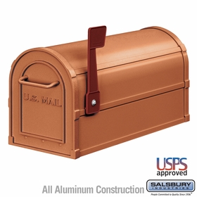 Salsbury 4850A-COP Antique Rural Mailbox Copper Finish